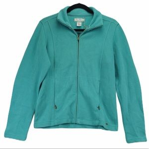 NWT Tommy Bahama L teal sweater zip jacket